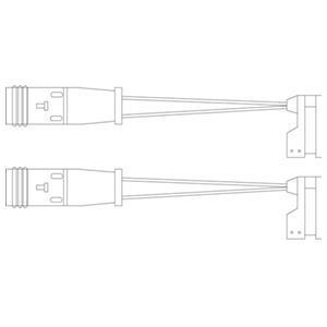 Kit de contact avertisseur, usure des garnitures de freins DELPHI LZ0190