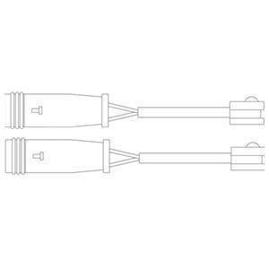 Kit de contact avertisseur, usure des garnitures de freins DELPHI LZ0199