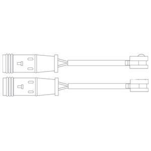 Kit de contact avertisseur, usure des garnitures de freins DELPHI LZ0204
