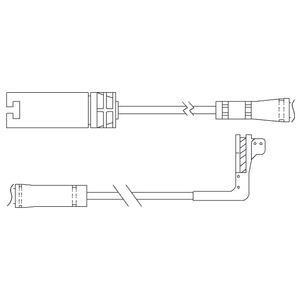 Kit de contact avertisseur, usure des garnitures de freins DELPHI LZ0214