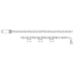 Kit de contact avertisseur, usure des garnitures de freins DELPHI LZ0234