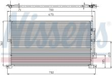 Nissens 94586 AC Condenseur fit for D MONDEO III 01