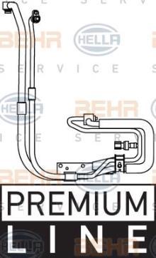 BEHR HELLA SERVICE 9GS 351 337-651 *** PREMIUM LINE *** Tuber/ía de baja//alta presi/ón de compresor aire acondicionado a condensador aire acondicionado