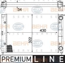 refrigeraci/ón del motor BEHR HELLA SERVICE 8MK 376 713-334  Radiador