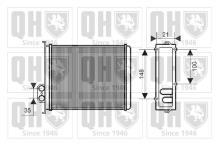Intercambiador calefacción radiador calefacción nuevo Hella longitud 8fh 351 311-391 mm