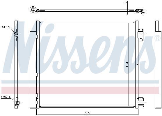 Nissens 940250 condenseur climatisation