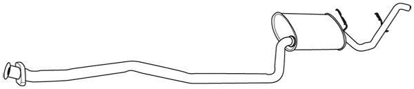 Silencieux Arrière WALKER 09616