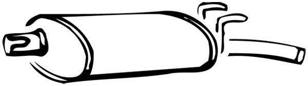 Silencieux arrière WALKER 14250