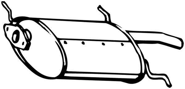 Silencieux arrière WALKER 15750