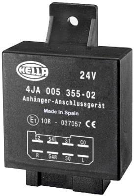 Relais temporisé, dispositif d'attelage HELLA 4JA 005 355-021