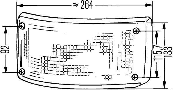 Feu Clignotant HELLA 2BA 005 603-141