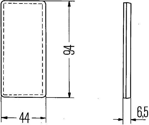 Réflecteur arrière HELLA 8RA 003 326-031