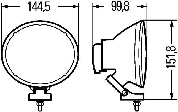 Bloc-optique, projecteur longue portée HELLA 1F4 007 893-871