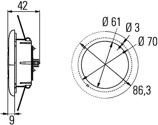 Feu plafonnier HELLA 2JA 343 790-741