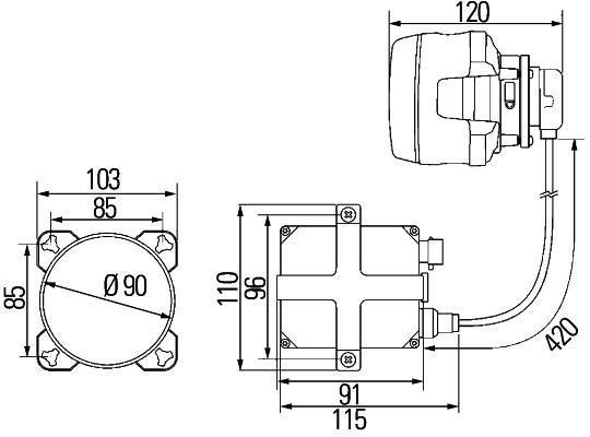 Projecteur Longue Portée HELLA 1K0 008 192-091