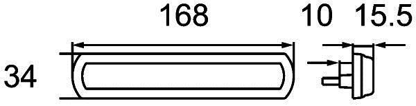 Feu de position latérale HELLA 2PS 013 304-131