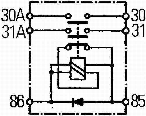 Interrupteur Principal, Batterie HELLA 6EK 008 776-001