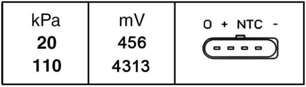 Capteur, pression du tuyau d'admission HELLA 6PP 009 400-261