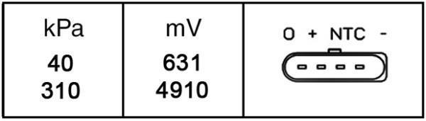 Capteur, pression du tuyau d'admission HELLA 6PP 009 400-251