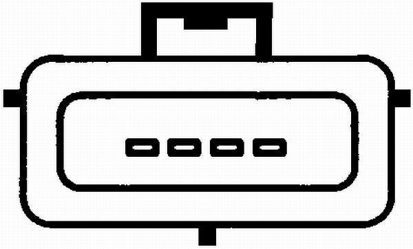 Débitmètre De Masse D'air HELLA 8ET 009 142-161