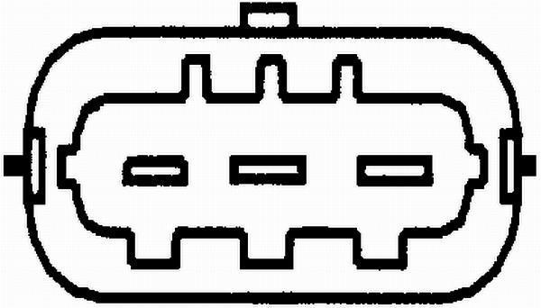 Capteur, Position D'arbre à Cames HELLA 6PU 009 121-591