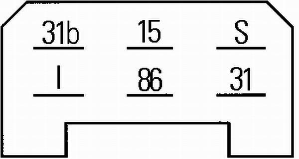 Relais, intervalle d'essuyage HELLA 5WG 002 450-301