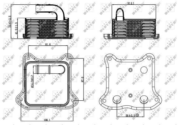 Radiateur D'huile Moteur NRF B.V. 31260
