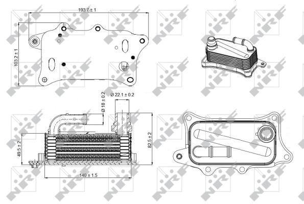 Radiateur D'huile Moteur NRF B.V. 31270