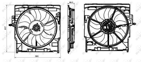 Ventilateur Du Moteur NRF B.V. 47845