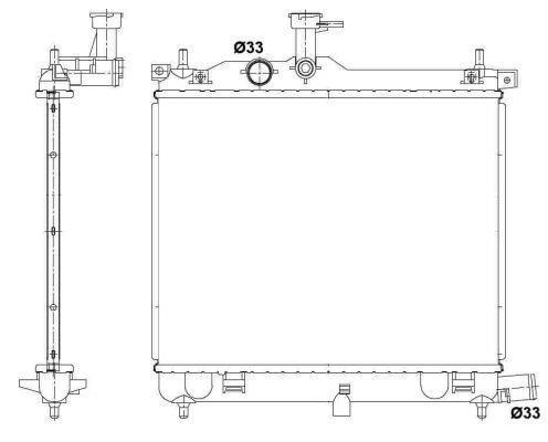 Radiateur Du Moteur NRF B.V. 53025