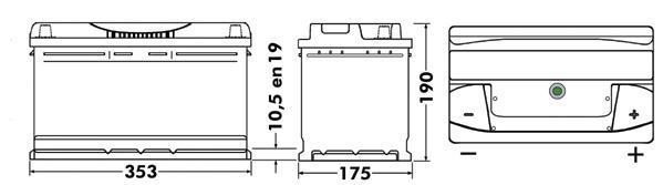 Batterie TUDOR TB950