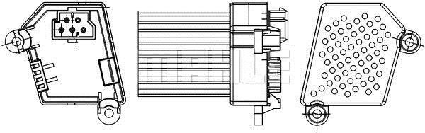 Régulateur, pulseur d'air habitacle MAHLE Aftermarket ABR 33 000S