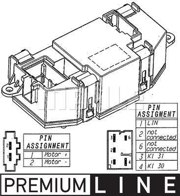 Régulateur, pulseur d'air habitacle MAHLE Aftermarket ABR 56 000P