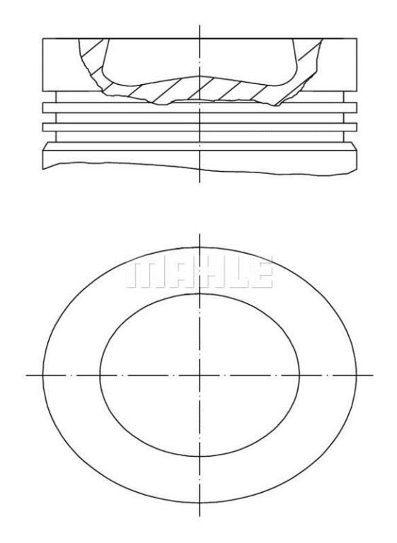 Piston MAHLE Aftermarket 028 PI 00100 001