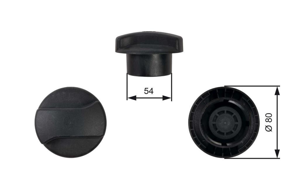 Bouchon, réservoir de liquide de refroidissement GATES RC224