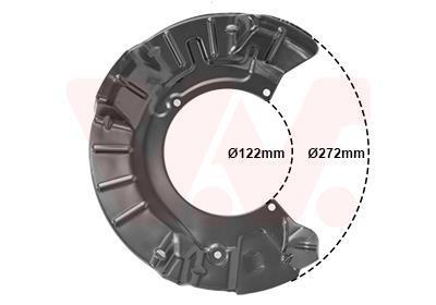 Déflecteur, disque de frein VAN WEZEL 0502371
