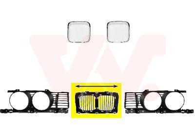 Grille de radiateur VAN WEZEL 0635510