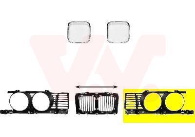Grille de radiateur VAN WEZEL 0635511