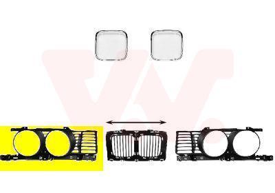 Grille de radiateur VAN WEZEL 0635512