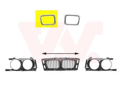Cadre, grille de radiateur VAN WEZEL 0635516