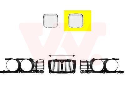 Cadre, grille de radiateur VAN WEZEL 0635517