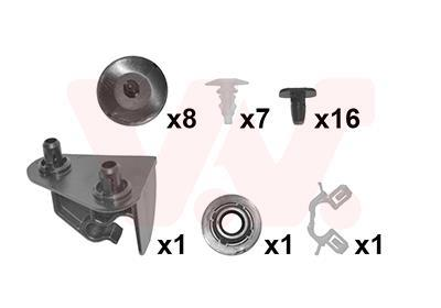 Kit d'assemblage, capot-moteur VAN WEZEL 3341797