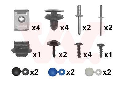 Kit d'assemblage, pare-chocs VAN WEZEL 4035794