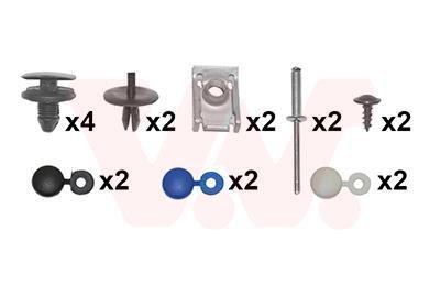 Kit d'assemblage, pare-chocs VAN WEZEL 4040793