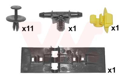 Kit d'assemblage, capot-moteur VAN WEZEL 4042797