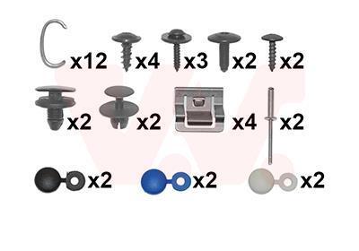 Kit d'assemblage, pare-chocs VAN WEZEL 4077794