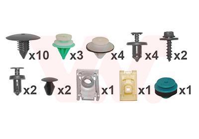 Kit d'assemblage, pare-chocs VAN WEZEL 4327793