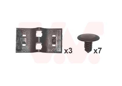 Kit d'assemblage, capot-moteur VAN WEZEL 4327797