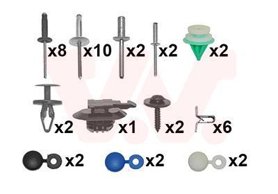 Kit d'assemblage, pare-chocs VAN WEZEL 4333794