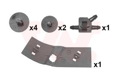 Kit d'assemblage, capot-moteur VAN WEZEL 4333797